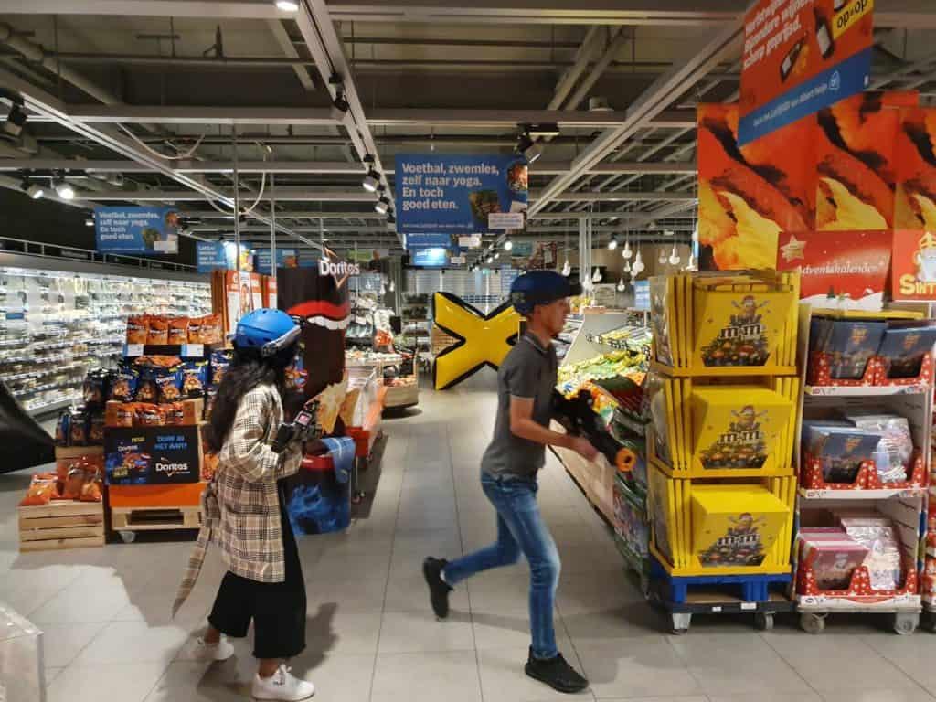 Lasergamen in de supermarkt